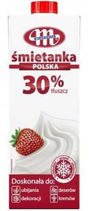 Кулинарные сливки Mlekovita жирность 30%, 1л.