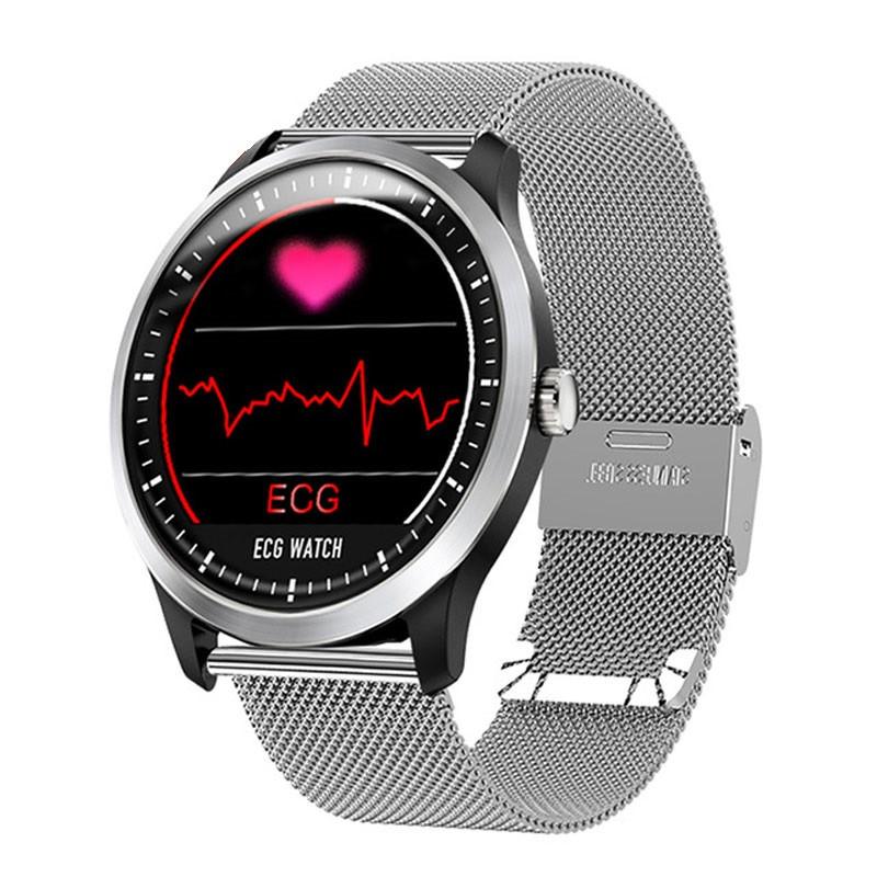 Умные часы Lemfo N58 Metal с измерением давления и ЭКГ Серебристый (swlemn58metsil)