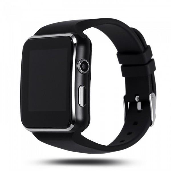 Умные часы Smart Watch X6S с слотом под SIM карту Черный (OI-0633)