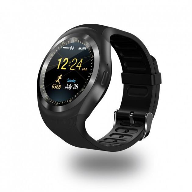 Умные часы с слотом под SIM карту Smart Watch Y1S Black (OI-0634)