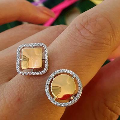 Срібне кільце з золотом Геометрія