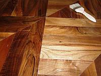 Паркет орех пропаренный натур 300-1100х100х16 полуматовый лак