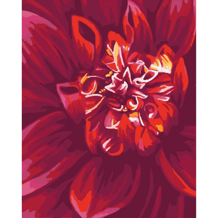 Картина по номерам Идейка - Яркий георгин 40x50 см (КНО2092)