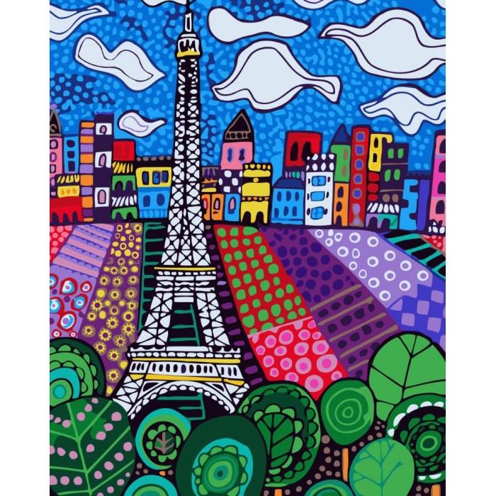 Картина по номерам Идейка - Облака в Париже 40x50 см (КНО2165)