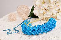 Ободок синий из роз