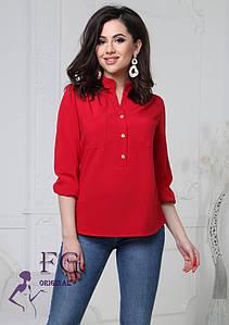 """Жіноча блузка великого розміру """"Sellin"""" #A/S"""