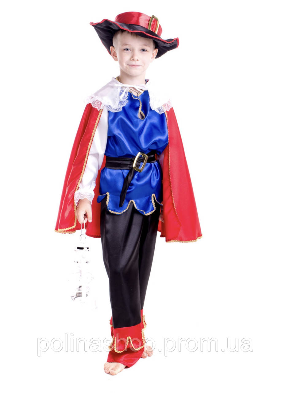 """Детский карнавальный костюм для мальчика """"Кот в сапогах"""""""