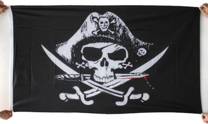 Пиратский флаг «Весёлый Роджер» 90х150см , фото 2