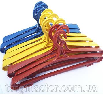 Вешалки пластиковые широкие цветные, 41см