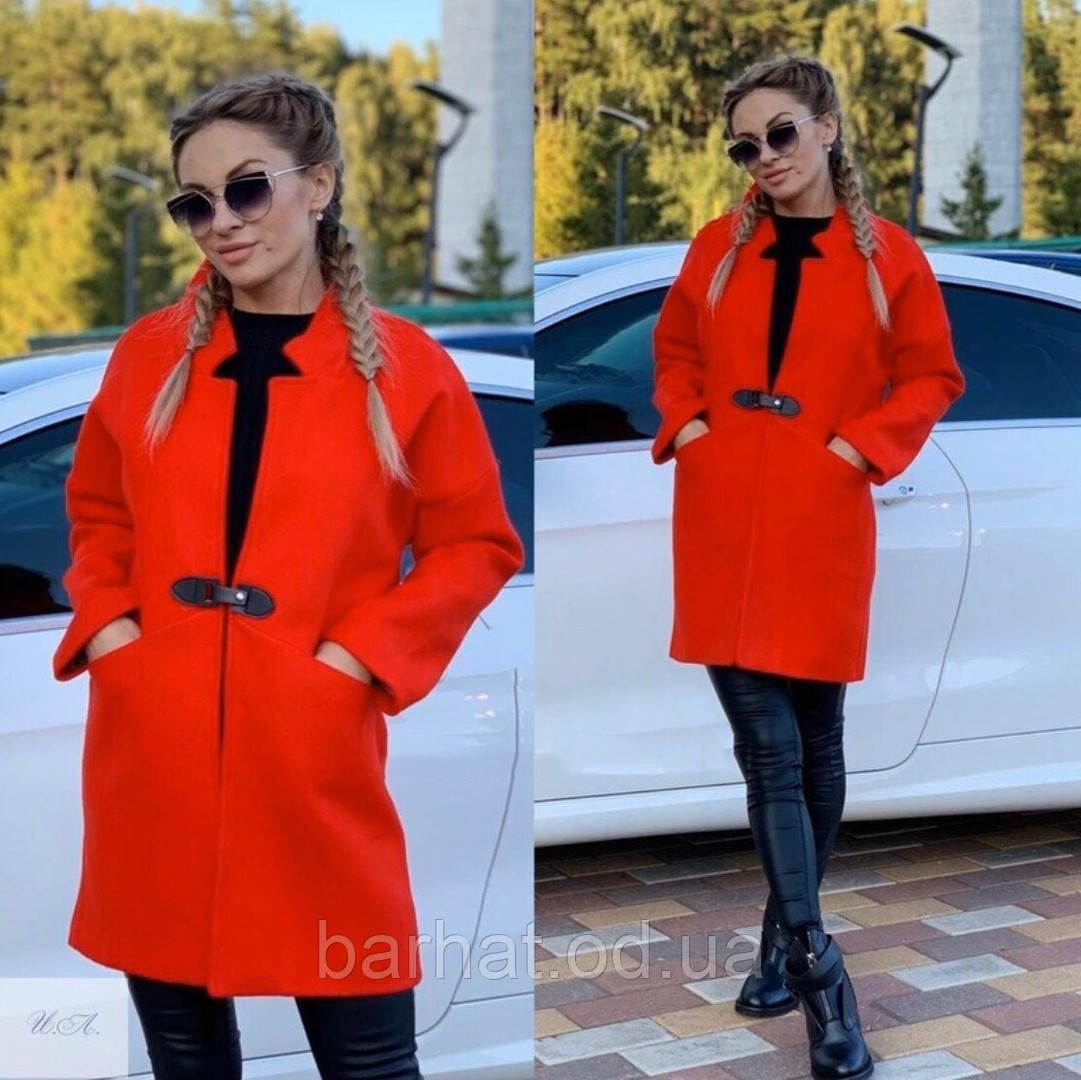 Пальто с кашемира красное 42,44,46 р.