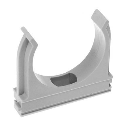 Крепёж для труб Ø 32мм серый, фото 2