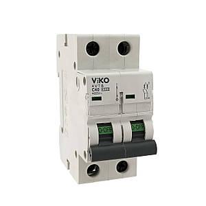 Автоматический выкл. VIKO 2P 40A 4.5кА 230/400В тип С