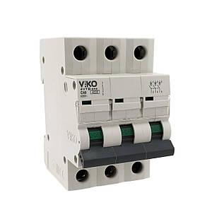 Автоматический выкл. VIKO 3P 63A 4.5кА 230/400В тип С