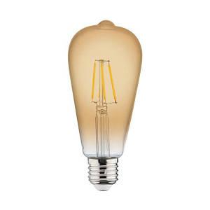 Филаментная лампа Horoz Electric Rustic 4W E27 2200K ST64 (Трубка)