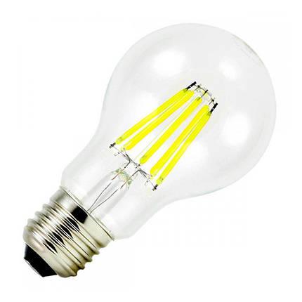 Филаментная лампа BIOM FL-312 8W E27 4500K А60 (Груша), фото 2