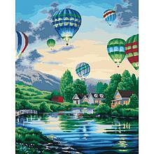 Картина по номерам Идейка - Воздушные шары 40x50 см (КНО2221)
