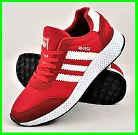 Кроссовки Мужские Adidas Iniki Runner Boost Красные Адидас (размеры: 40,41,42,43,44) Видео Обзор