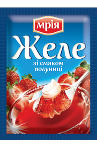 """Желе клубничное на желатине 90г ТМ """"Мрія"""""""