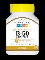 Комплекс витаминов группы Б 21st Century B-50 Complex 60 таблеток