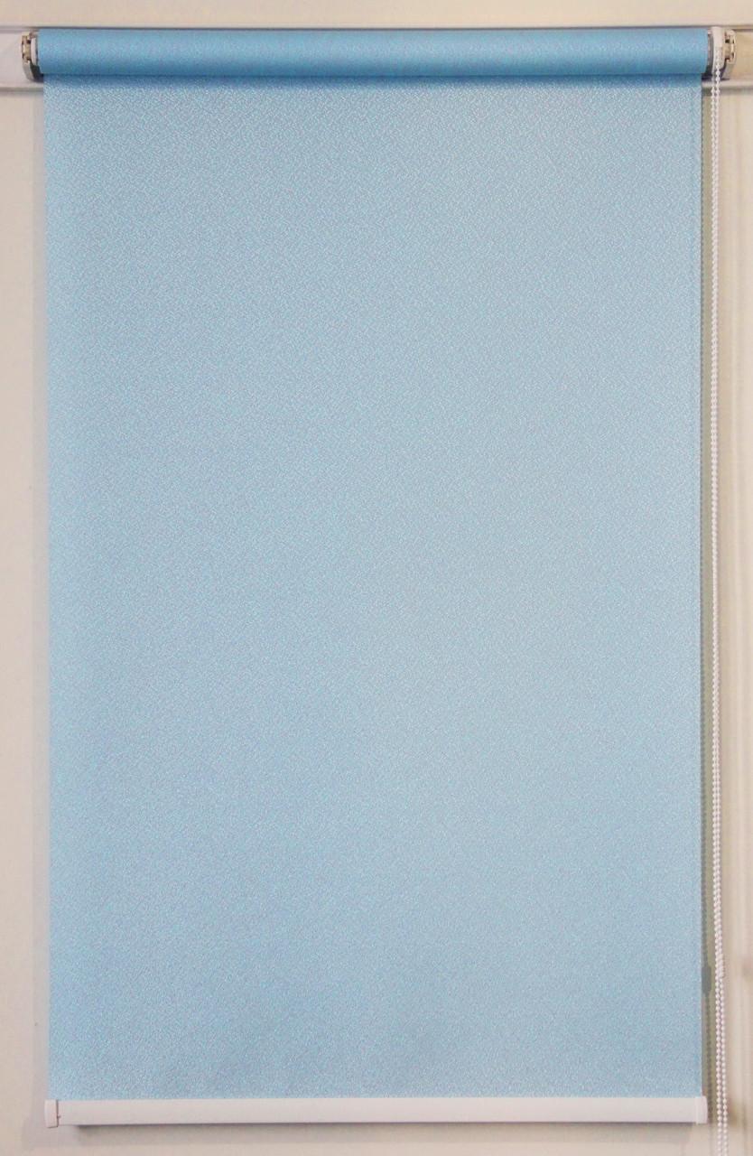 Готовые рулонные шторы 600*1500 Ткань Pearl 02 Голубой