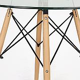 Стіл Імз скляний Ø 80 см (безкоштовна доставка), фото 5