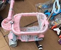 Детский самокат беговел с защитным бортиком, родительской ручкой Maraton Tucson 5 в 1, свет колес