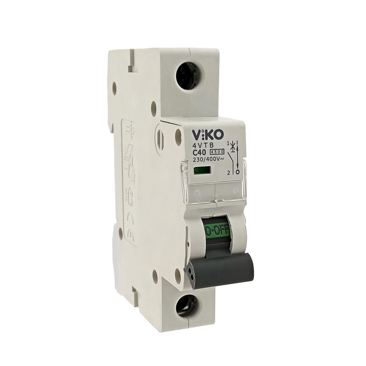 Автоматический выкл. VIKO 1P 40A 4.5кА 230/400В тип С
