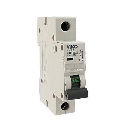 Автоматический выкл. VIKO 1P 40A 4.5кА 230/400В тип С, фото 2