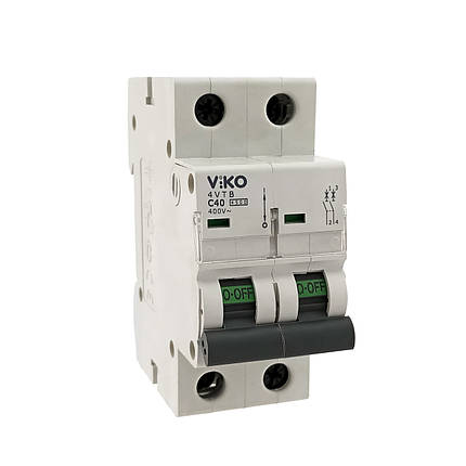 Автоматический выкл. VIKO 2P 10A 4.5кА 230/400В тип С, фото 2