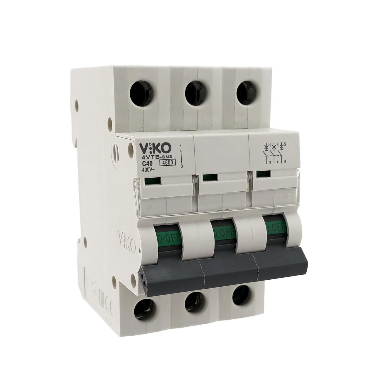 Автоматический выкл. VIKO 3P 32A 4.5кА 230/400В тип С