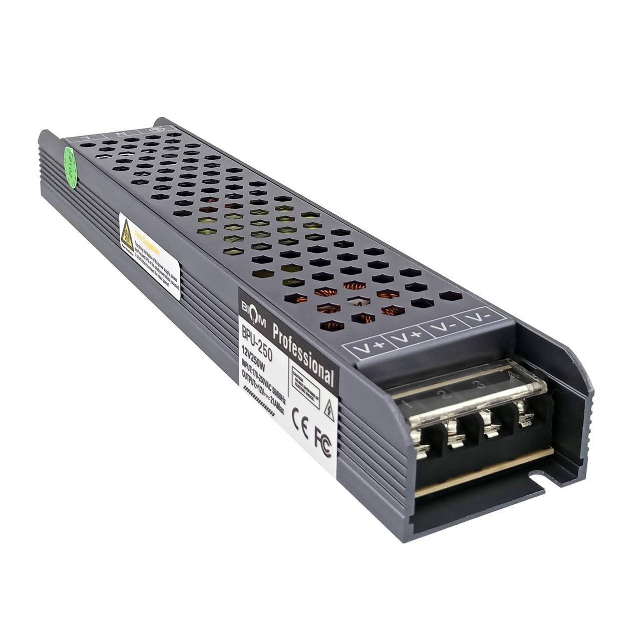 Блок питания BIOM BPU-250 250Вт 12В 21А Алюминий IP20 Премиум