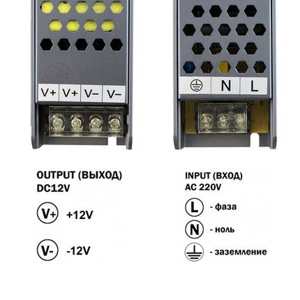 Блок питания BIOM BPU-250 250Вт 12В 21А Алюминий IP20 Премиум, фото 2