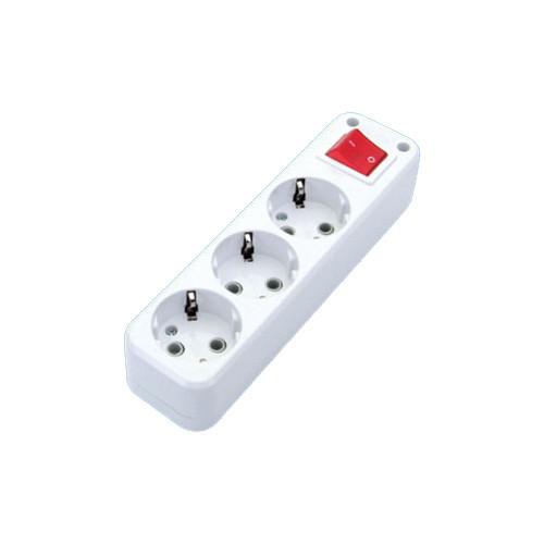 Колодка DE-PA 3гн. с заз. и кнопкой