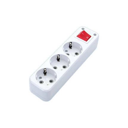 Колодка DE-PA 3гн. с заз. и кнопкой, фото 2