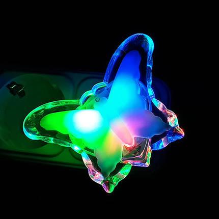 Ночник с кнопкой VARGO LED RGB Бабочка, фото 2
