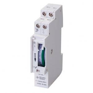 Механический таймер суточный на DIN-рейку Horoz Electric TIMER-3 16A