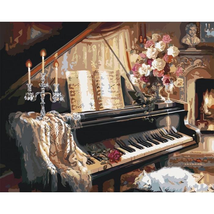 Картина по номерам Идейка - Вечерняя мелодия 40x50 см (КНО2506)