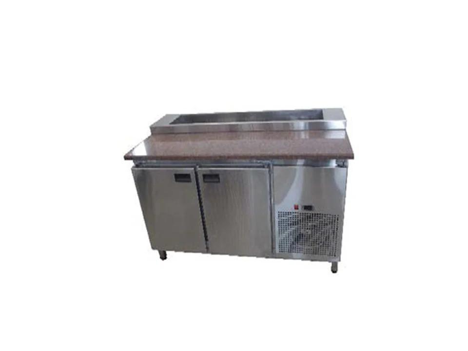 Саладетта - Стол холодильный для пиццы с гранитной столешницей 2х дверный.