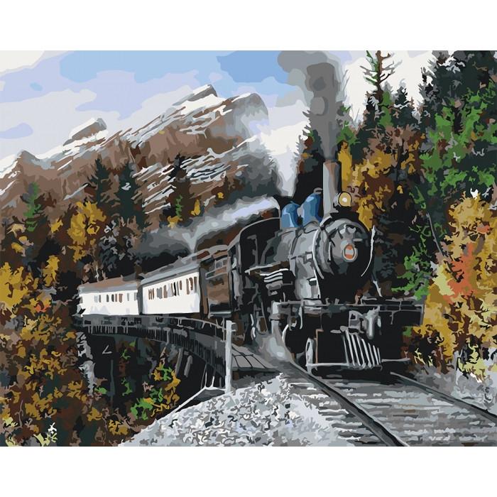 Картина по номерам Идейка - Скорый поезд 40x50 см (КНО2511)