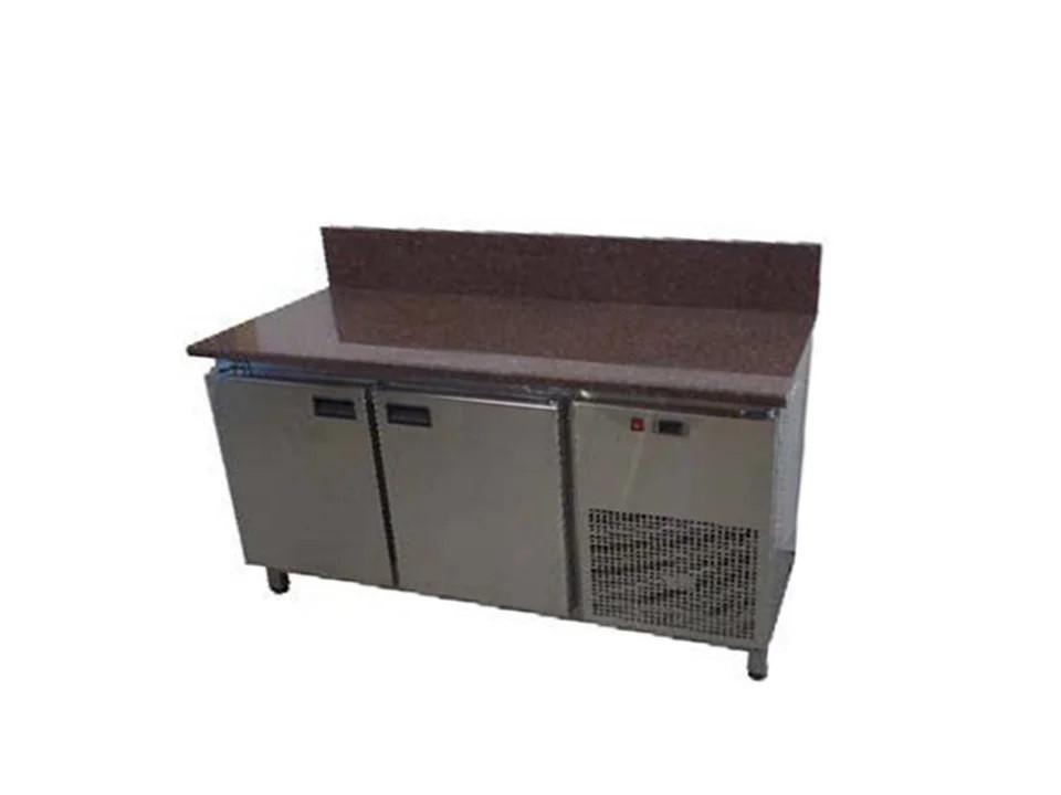 Холодильный стол с гранитной столешницей 2 двери, задний борт