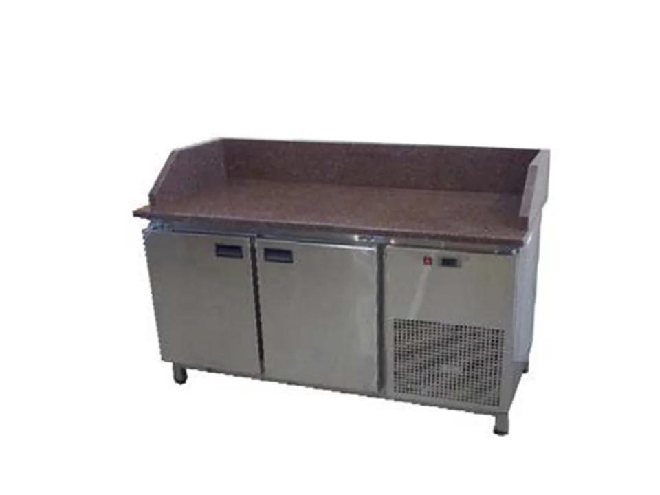 Холодильный стол с гранитной столешницей 2 двери, 3 борта