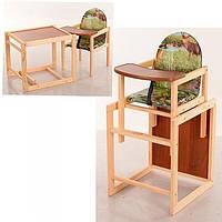 Детский деревянный стульчик для кормления V-001-5