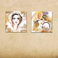 """Мультипано """"Girls"""" картины на холсте для салона красоты, парикмахерской"""