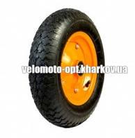 Колесо пневматическое для тачки, модель 4.00-8/20 диаметр 390 мм/пром 6204