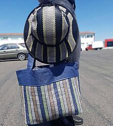 Пляжна сумка з капелюшком в подарунок