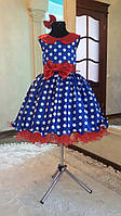 Бальное нарядное детское платье ретро