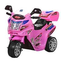 Детский мотоцикл M 0638 на аккумуляторе, розовый