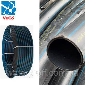 Труба ПЭ-80 Standart черная 25 PN6 Veco