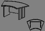 Стол руководителя  Гранд МДФ 24\101 (1600х1050х750)