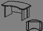Стол руководителя  Гранд МДФ 24\102 (1600х1050х750)